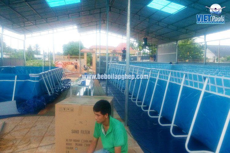 Bể bơi khung kim loại Vietpools tại Bình Thuận 3