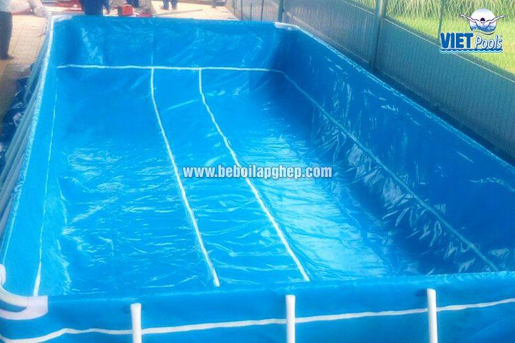 Bể bơi khung kim loại Vietpools tại Bình Thuận 4