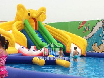 Nhà hơi trượt nước hình chú voi