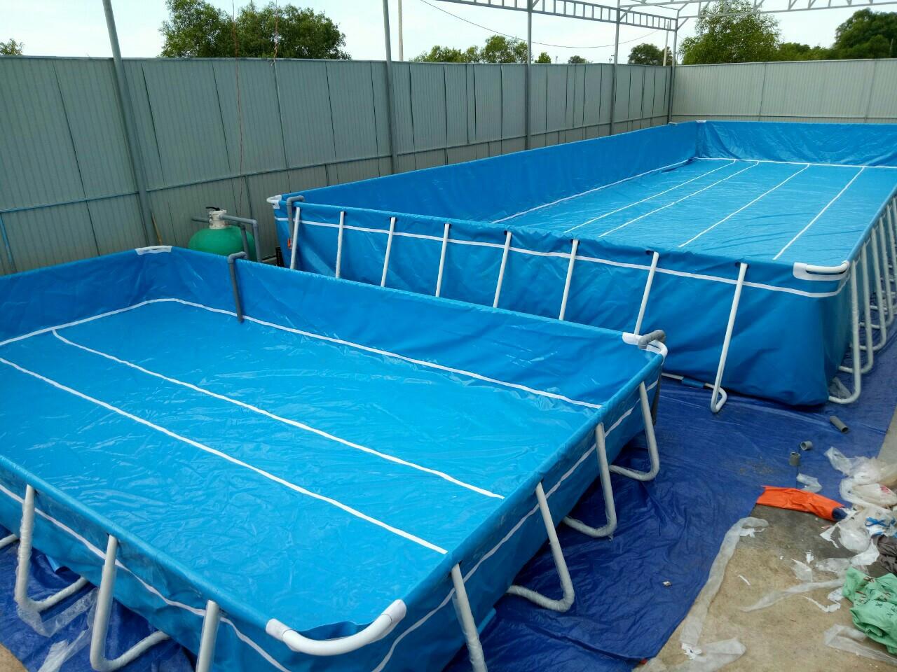 Bể Bơi Khung Kim Loại Vietpools Tại Quảng Trị KT 6.6mx12.6m - 2020 8