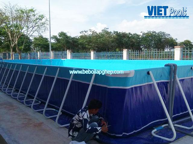 Bể Bơi Trường Học Vietpools Lắp Đặt Tại Tiểu Học Long Giao 2020 KT 5.1mx18.6mx1.2m 10