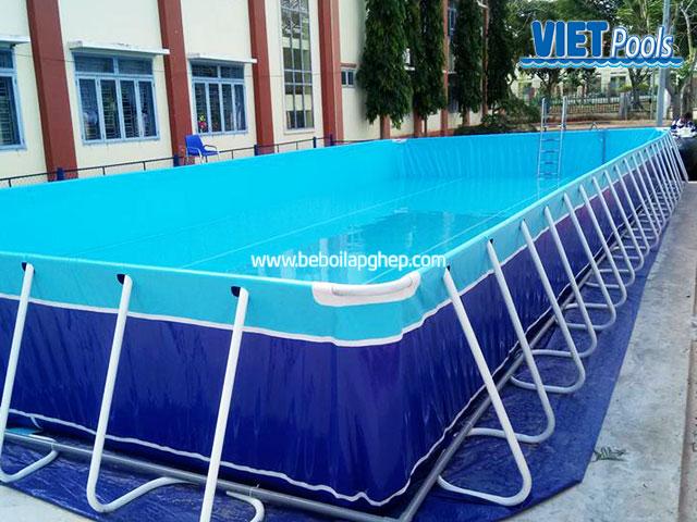 Bể Bơi Trường Học Vietpools Lắp Đặt Tại Tiểu Học Long Giao 2020 KT 5.1mx18.6mx1.2m 11
