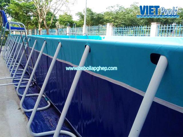 Bể Bơi Trường Học Vietpools Lắp Đặt Tại Tiểu Học Long Giao 2020 KT 5.1mx18.6mx1.2m 12