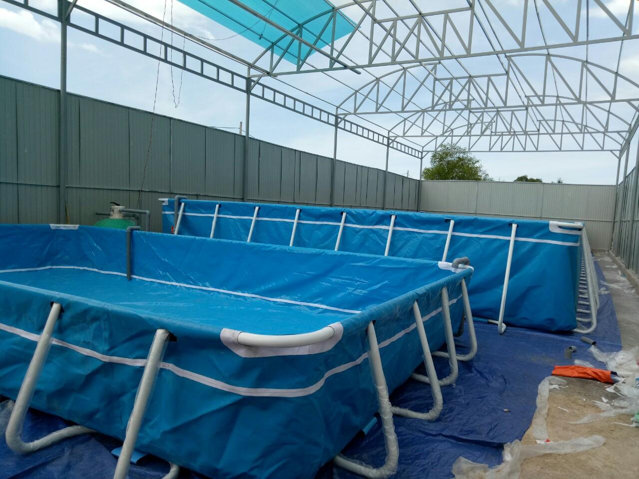 Bể Bơi Khung Kim Loại Vietpools Tại Quảng Trị KT 6.6mx12.6m - 2020 10