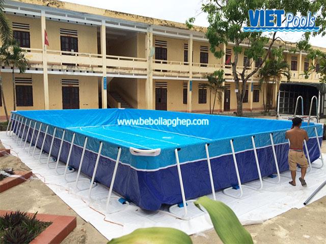 hồ bơi trường học lắp ghép