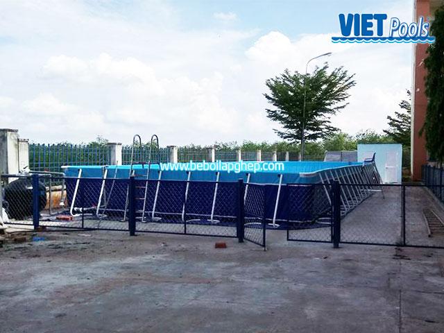 Bể Bơi Trường Học Vietpools Lắp Đặt Tại Tiểu Học Long Giao 2020 KT 5.1mx18.6mx1.2m 13
