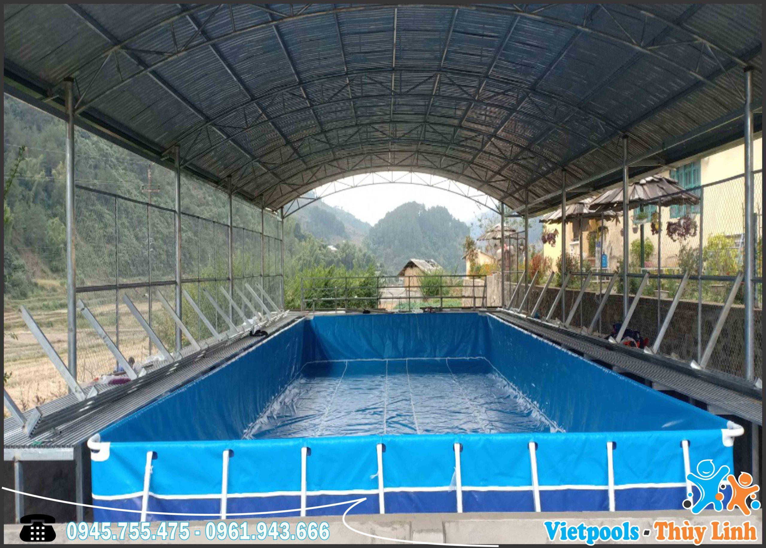 Bể bơi khung kim loại lắp ghé