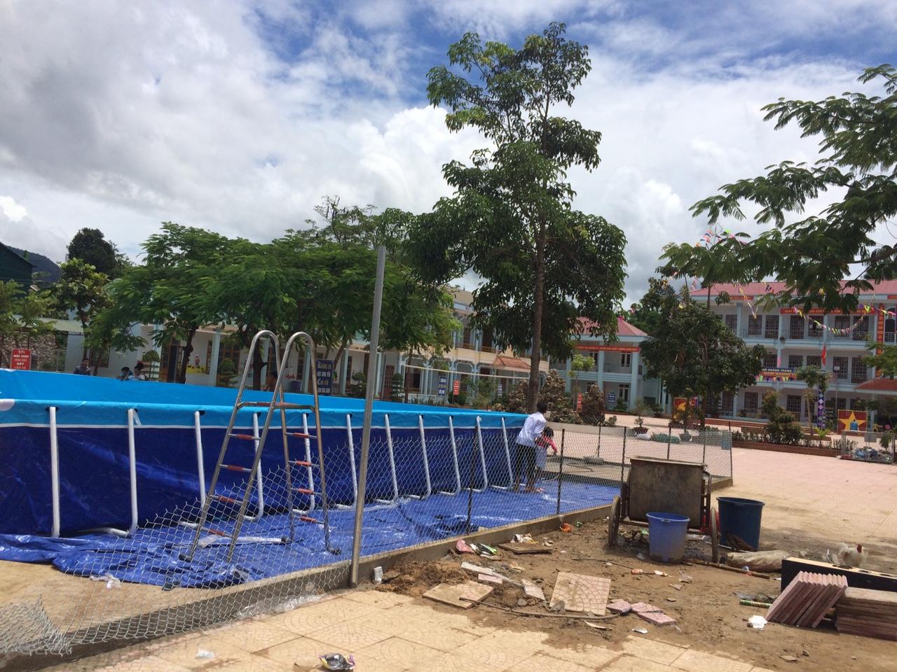 bể bơi khung kim loại Vietpools