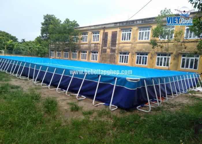 Bể Bơi Di Động Kết Hợp Nhà Hơi Trượt Nước Tại Bình Thuận - 2020 20