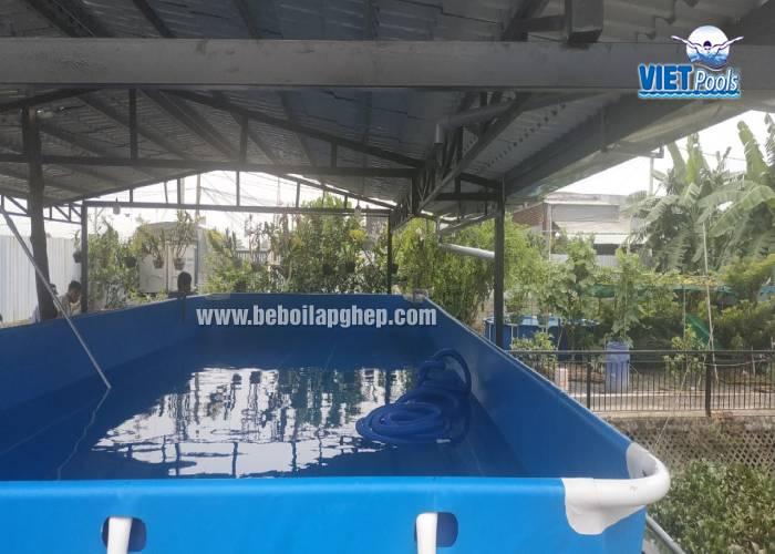 hồ bơi khung kim loại cho trẻ em