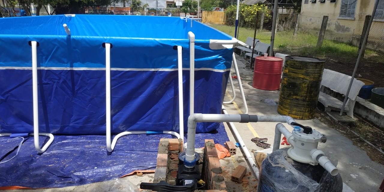 hồ bơi lắp ghép khung kim loại