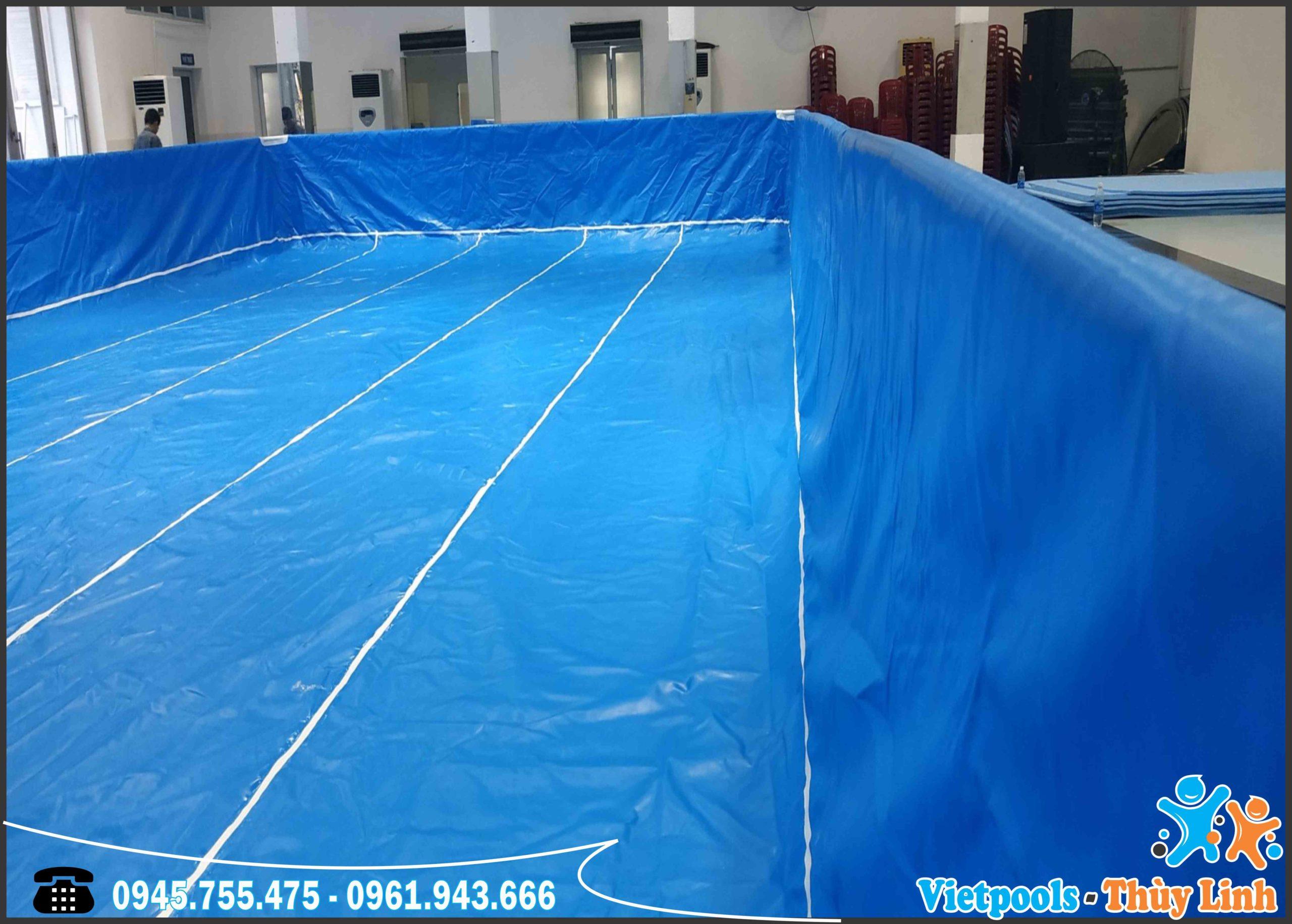 Bể Bơi Lắp Ghép Khung Kim Loại Tại Hồ Chí Minh KT 8.1mx17.1m - 2020 9