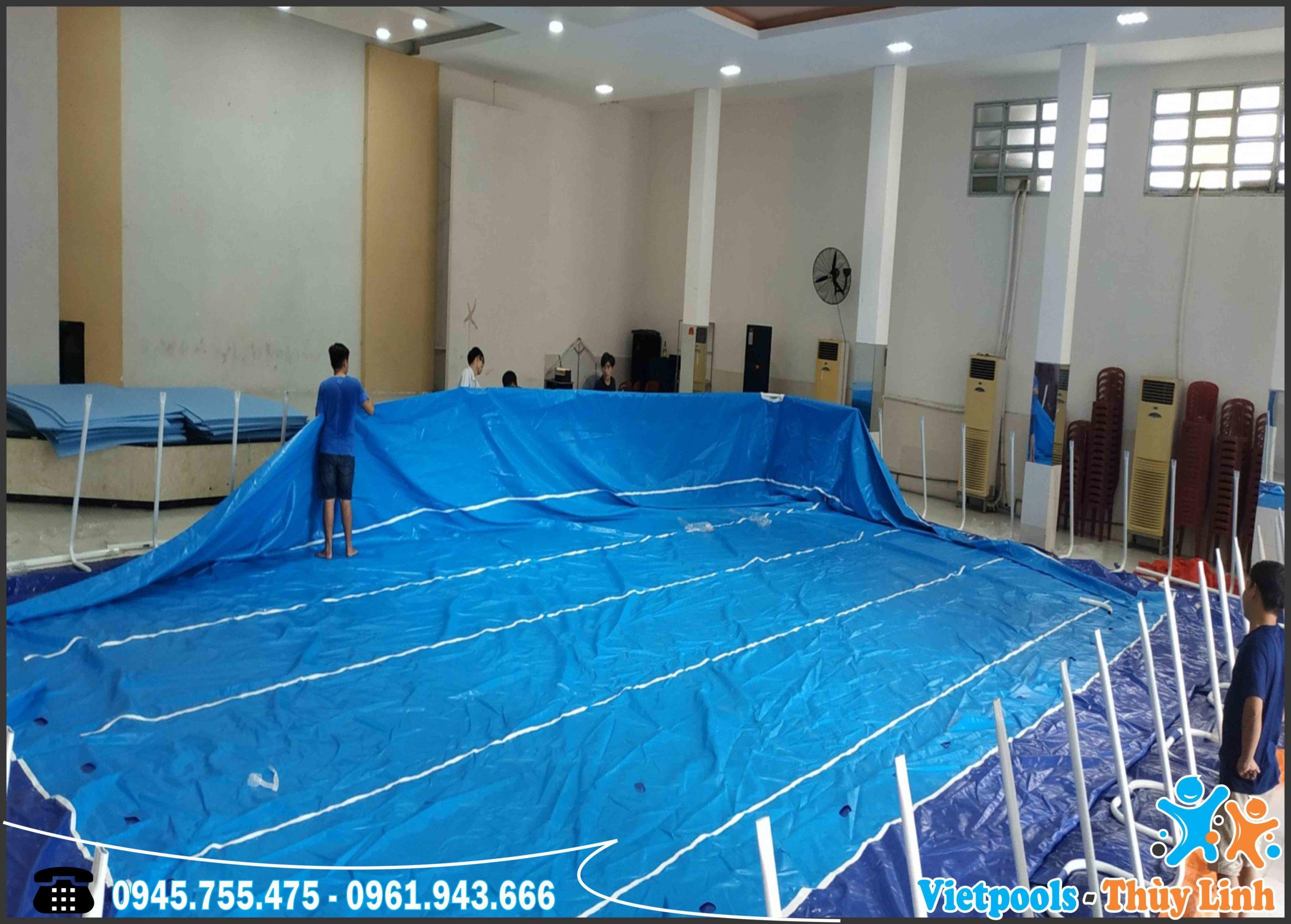 Bể Bơi Lắp Ghép Khung Kim Loại Tại Hồ Chí Minh KT 8.1mx17.1m - 2020 8