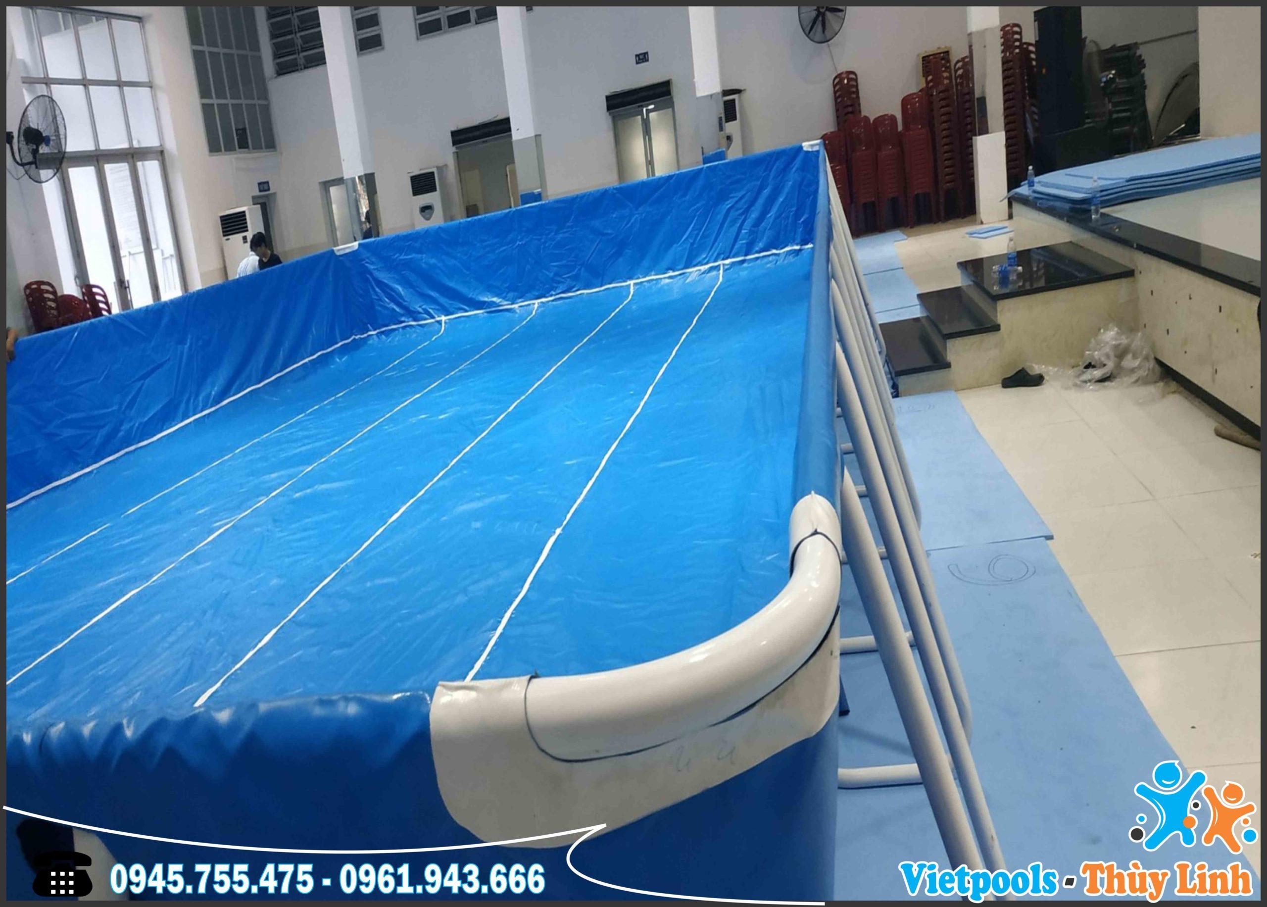 Bể Bơi Lắp Ghép Khung Kim Loại Tại Hồ Chí Minh KT 8.1mx17.1m - 2020 7