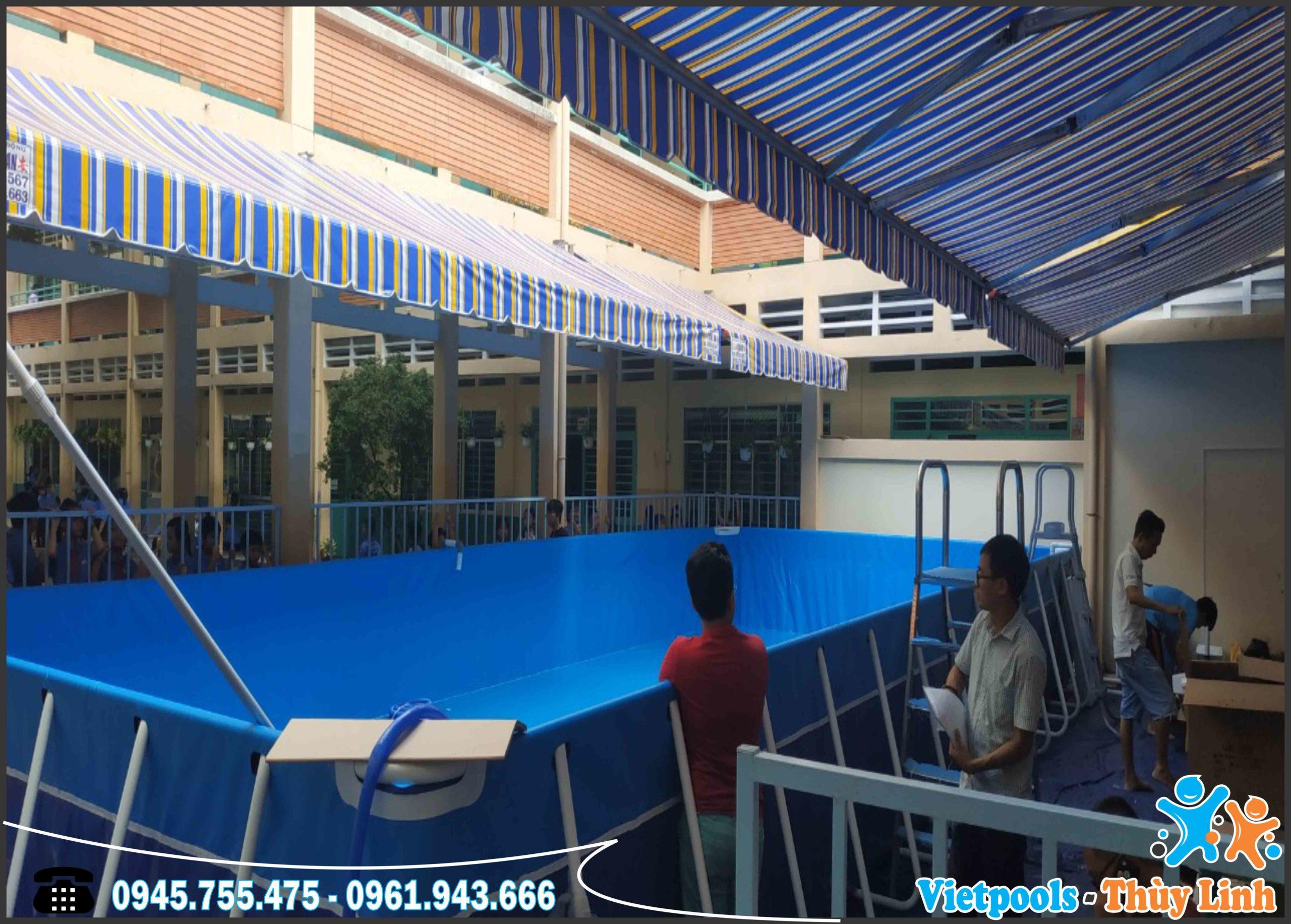 Bể Bơi Di Động Kết Hợp Nhà Hơi Trượt Nước Tại Bình Thuận - 2020 14