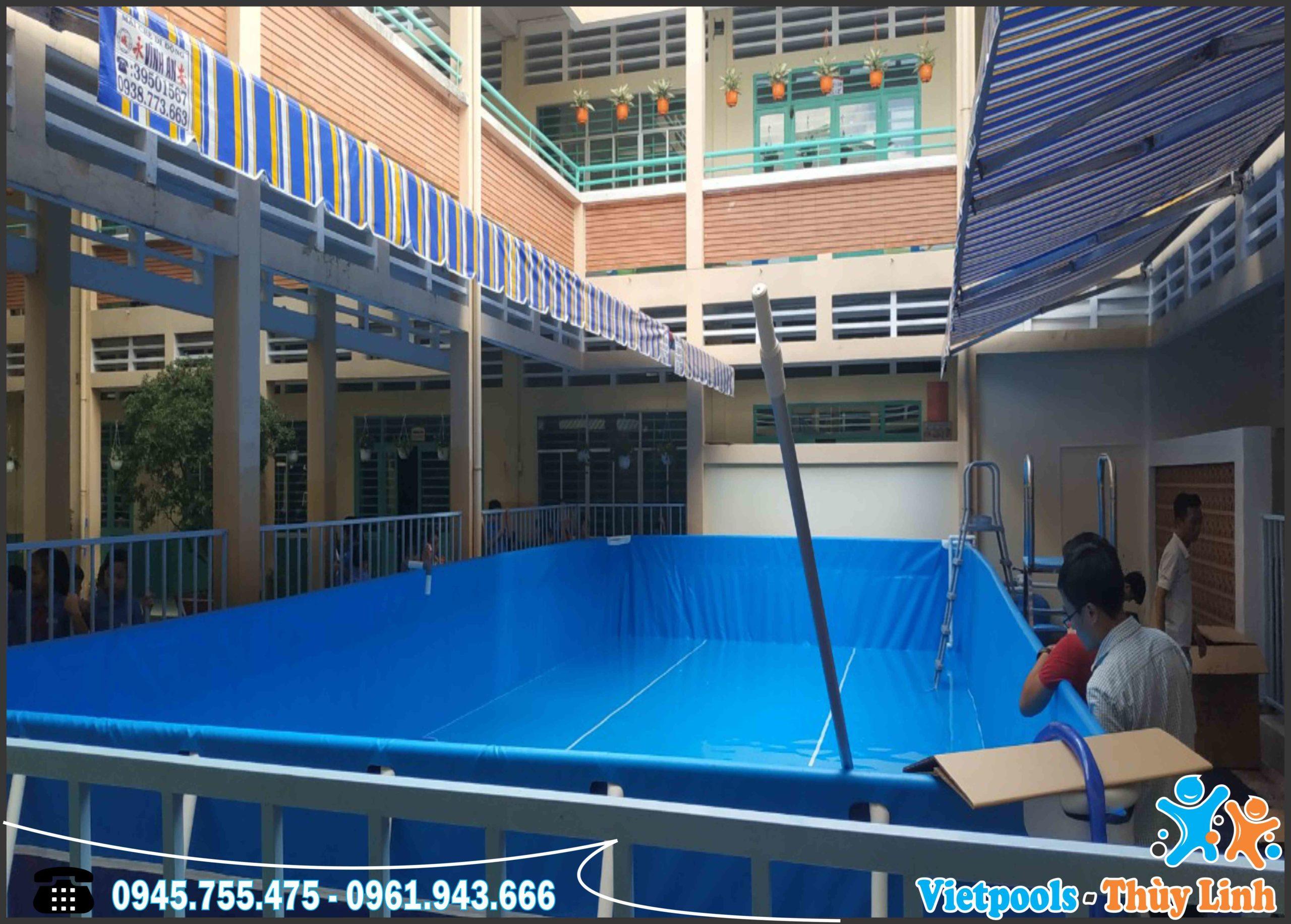 Bể Bơi Di Động Kết Hợp Nhà Hơi Trượt Nước Tại Bình Thuận - 2020 15
