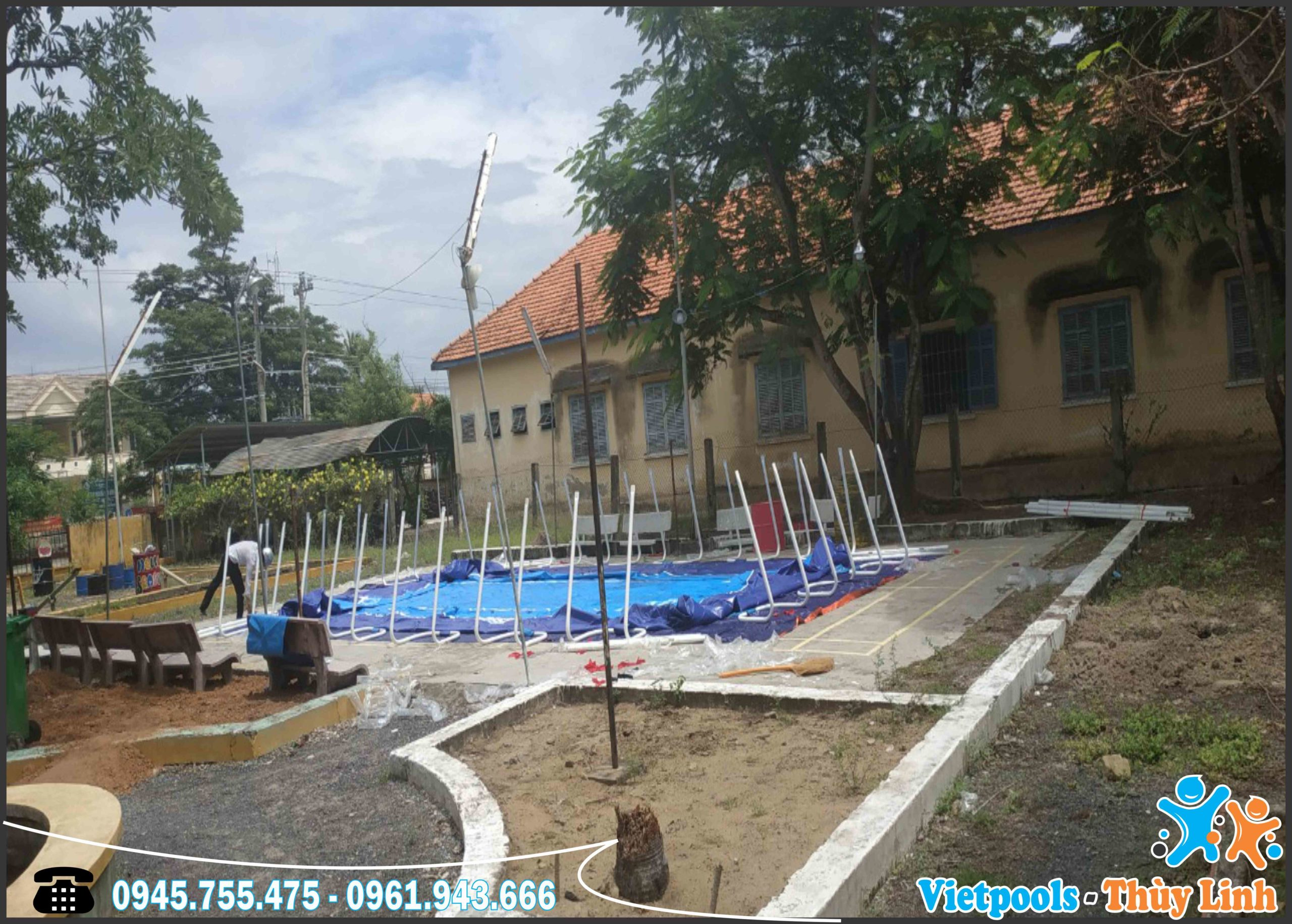Bể Bơi Lắp Ghép Khung Kim Loại Tại Đà Nẵng KT 6.6mx12.6m - 2020 6