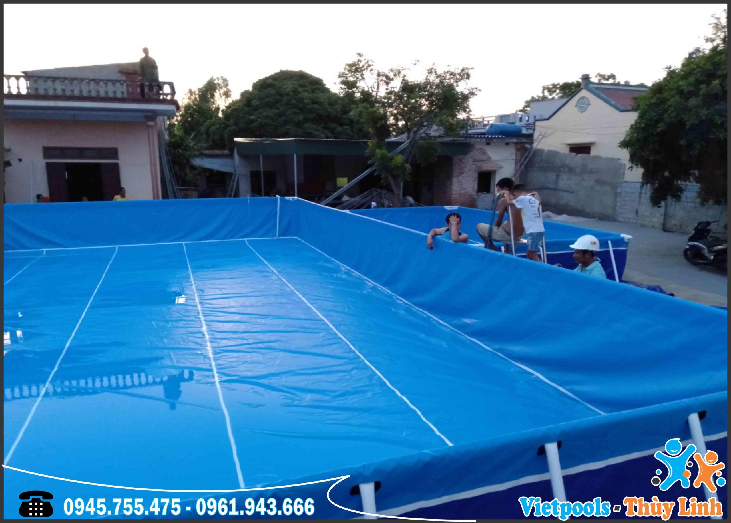 Bể Bơi Di Động Kết Hợp Nhà Hơi Trượt Nước Tại Bình Thuận - 2020 19