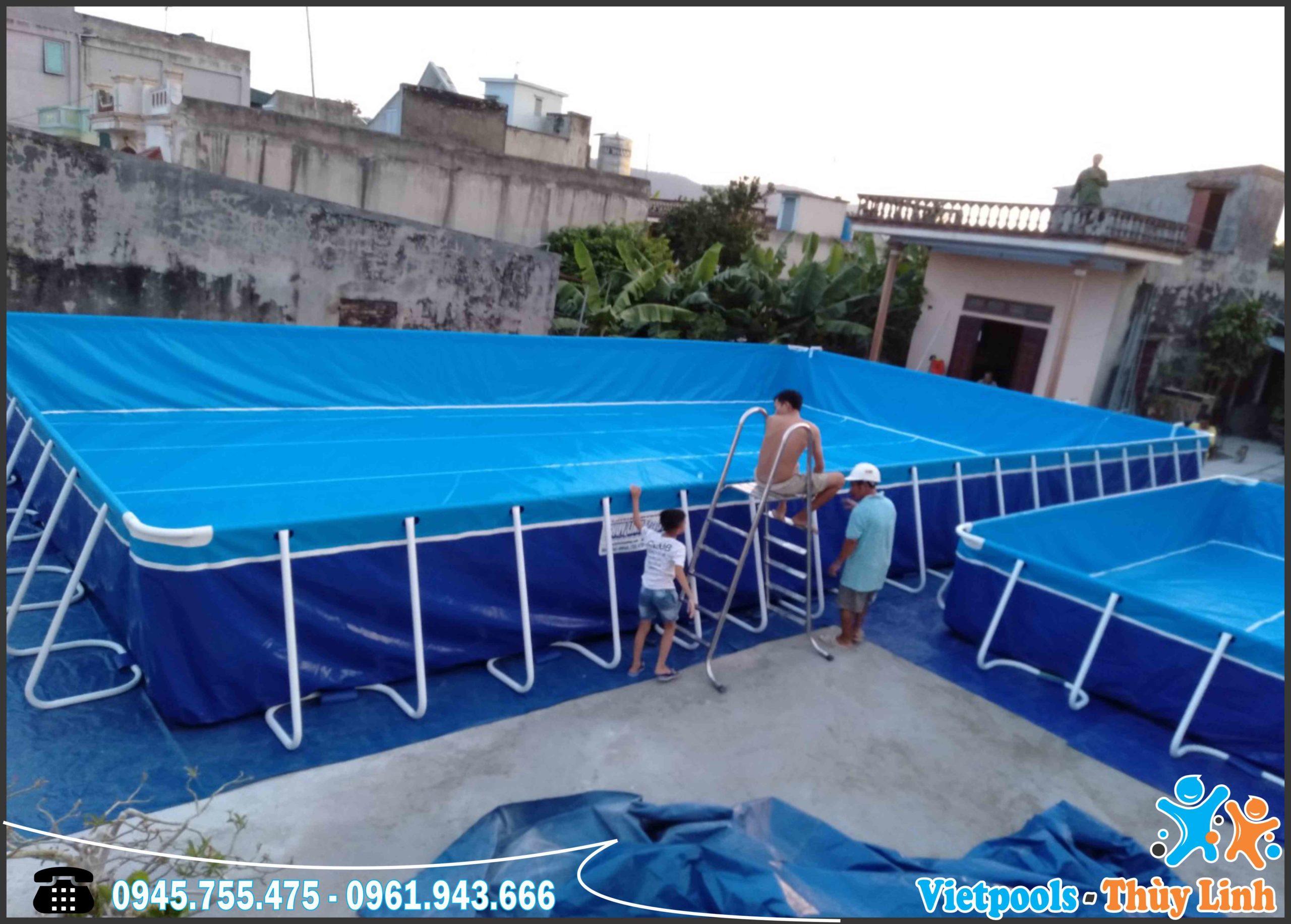 Bể Bơi Di Động Kết Hợp Nhà Hơi Trượt Nước Tại Bình Thuận - 2020 18
