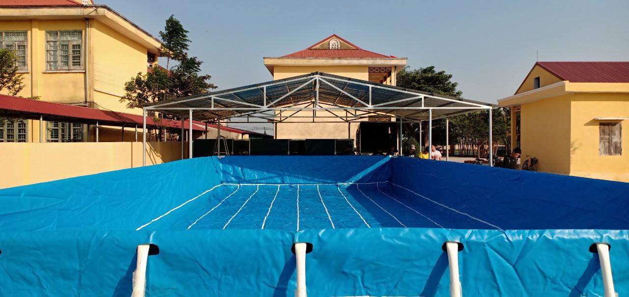 Bể bơi lắp ghép khung kim loại 5.1m x 8.1m lắp đặt tại Nghệ An 28