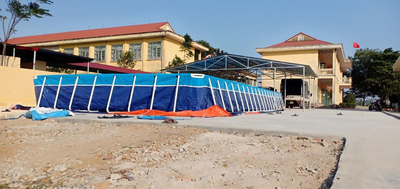 Bể bơi lắp ghép khung kim loại 5.1m x 8.1m lắp đặt tại Nghệ An 29