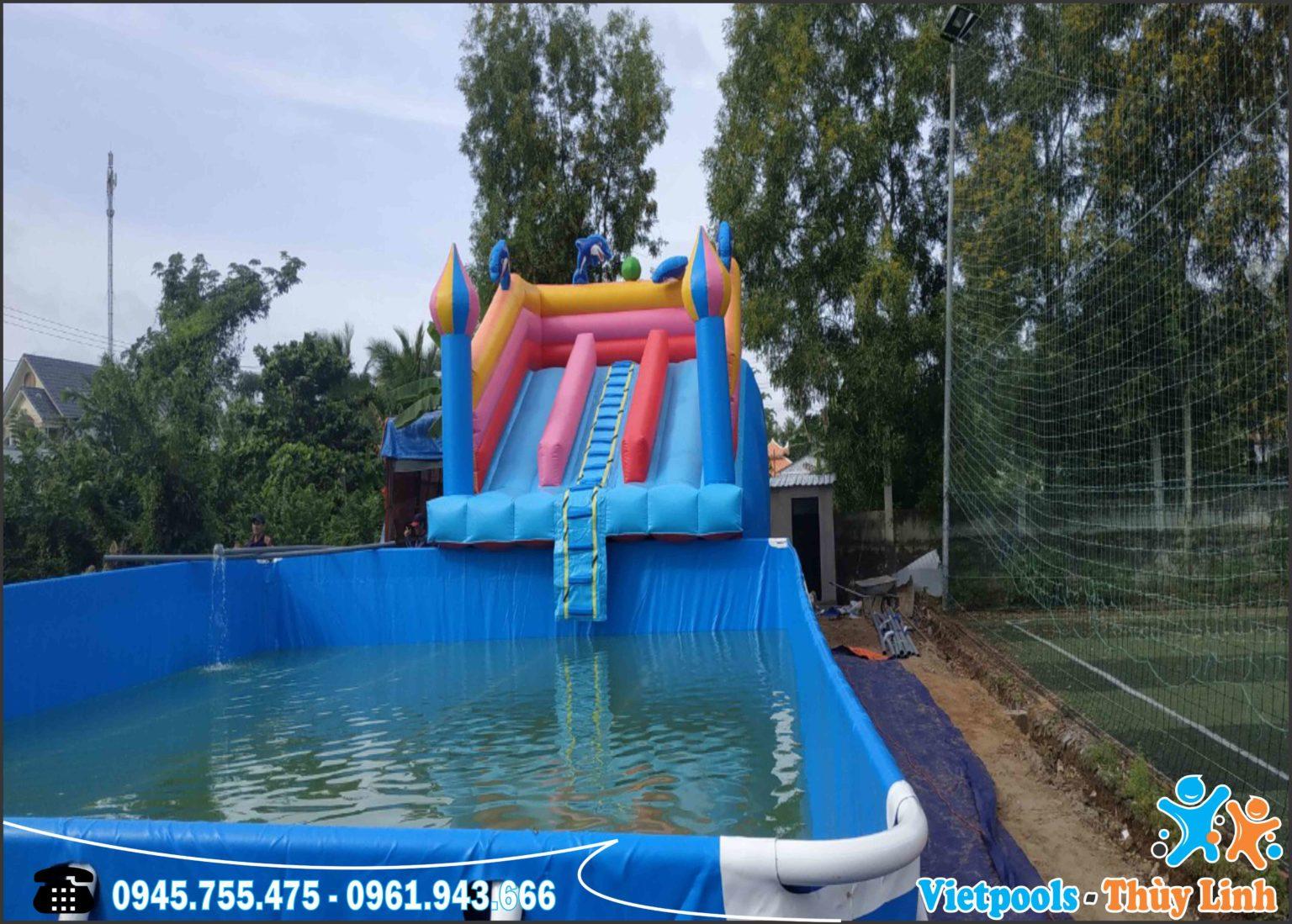 Bể Bơi Lắp Ghép Khung Kim Loại Tại Hải Phòng KT 6.6mx12.6m - 2020 7