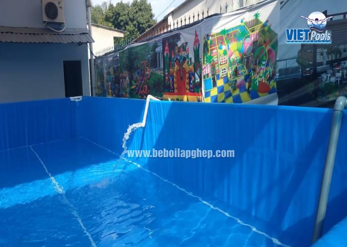 Bể bơi lắp ghép khung kim loại 3.6m x 5.1m lắp đặt tại Hà Nội 28