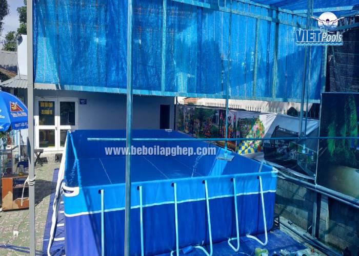 Bể bơi lắp ghép khung kim loại 3.6m x 5.1m lắp đặt tại Hà Nội 29