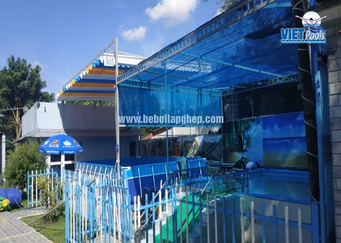 Bể bơi lắp ghép khung kim loại 3.6m x 5.1m lắp đặt tại Hà Nội 30