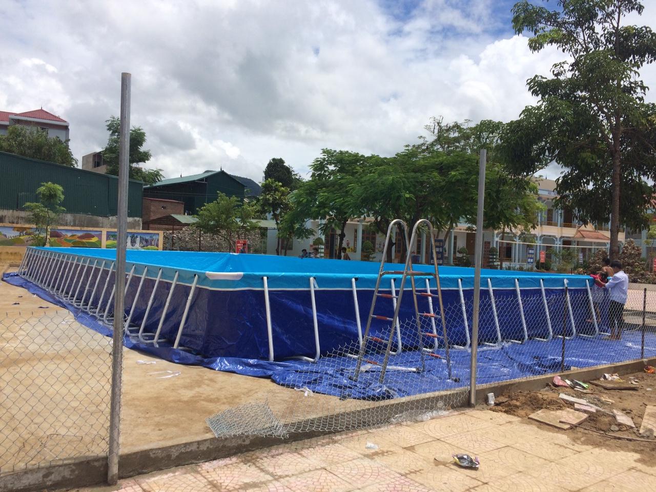 bể bơi trường học lắp ráp