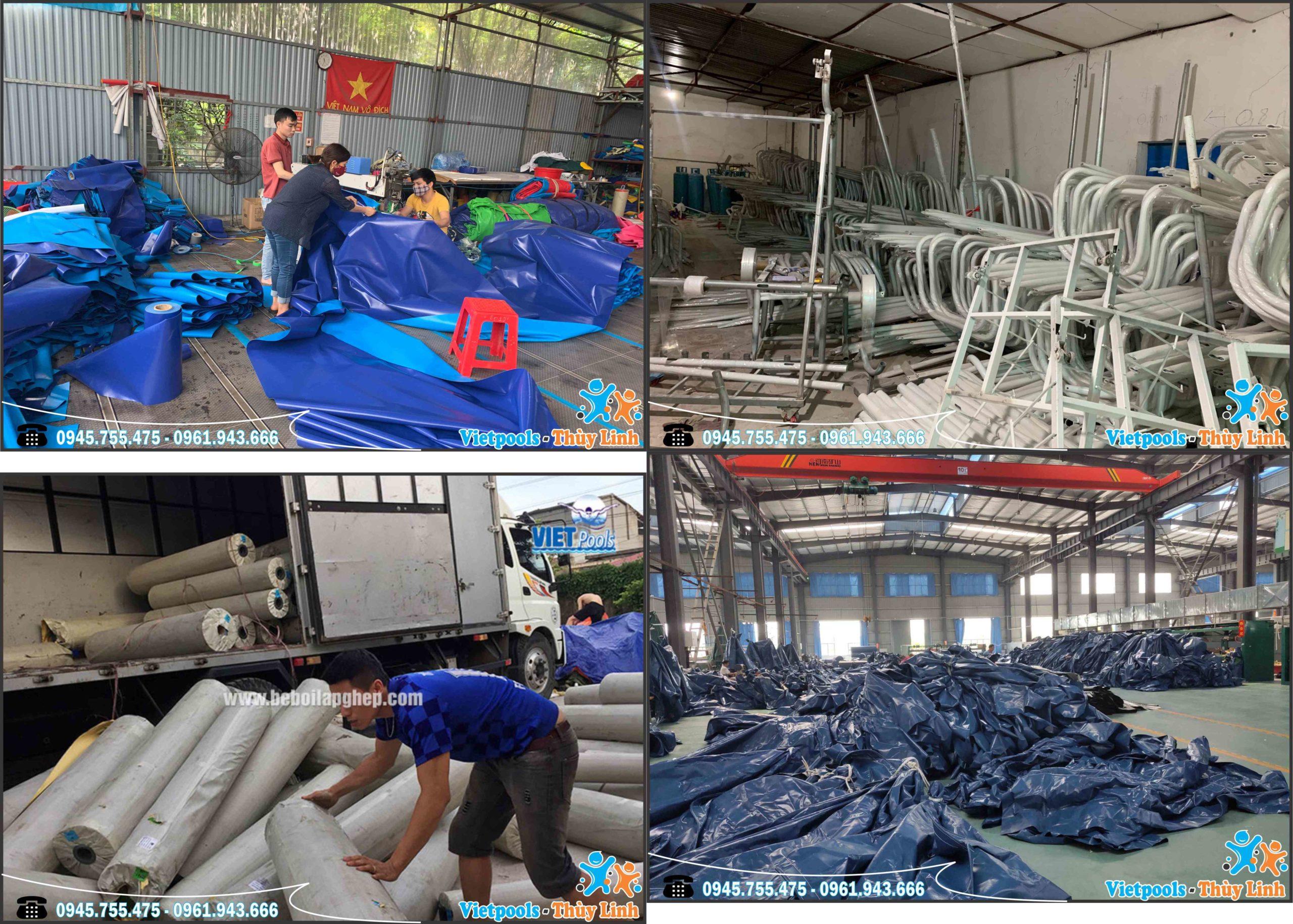 xưởng sản xuất bể bơi di động
