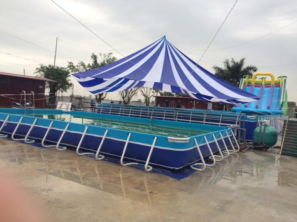đặt hàng bể bơi di động
