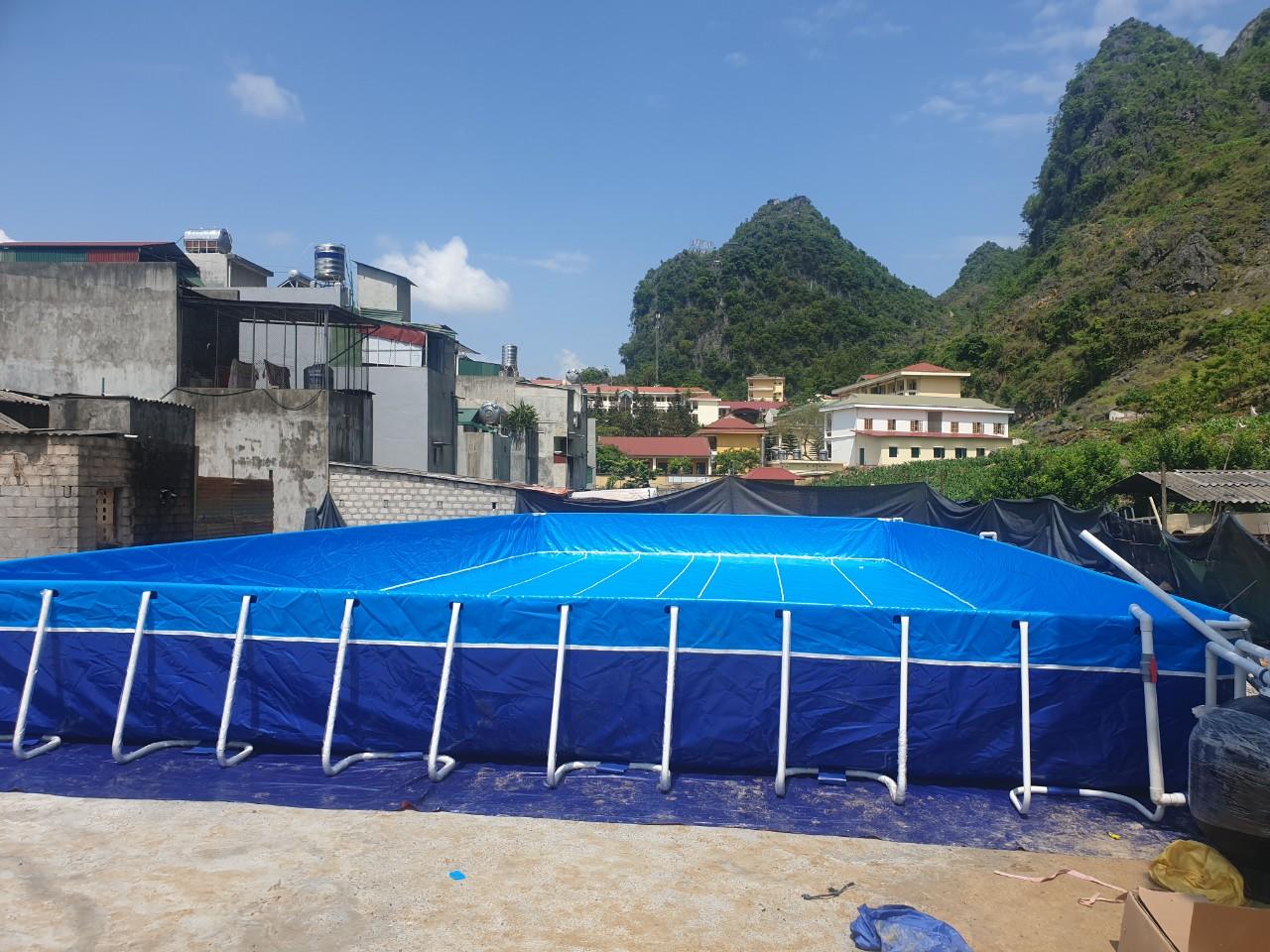 bể bơi khung kim loại lắp ghép Vietpools