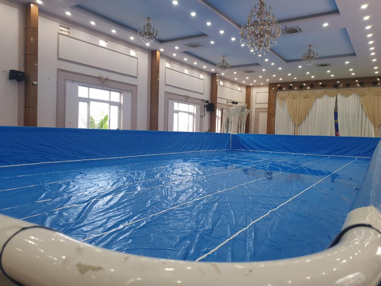 lòng hồ bơi bạt kinh doanh