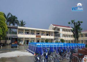 bể bơi di động tại trường học