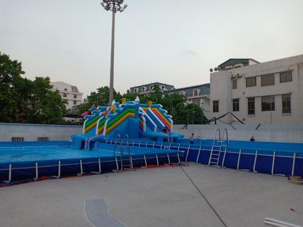 Kinh Doanh Hồ Bơi Di Động Lắp Ghép 14,1m x 15,6m 1