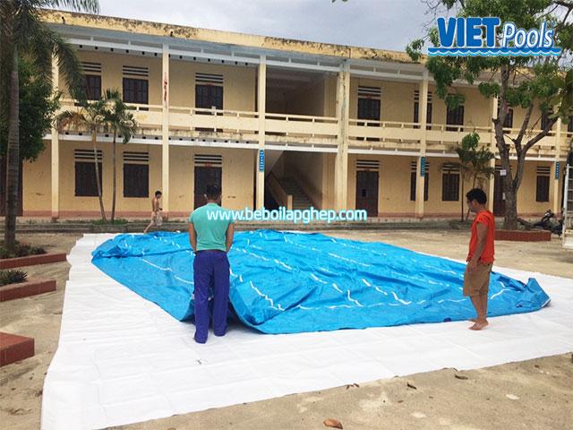 nền đặt bể bơi trường học thông minh