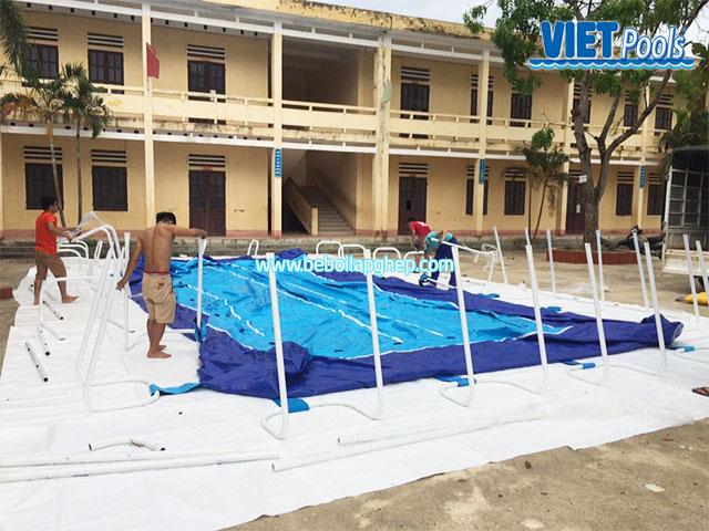 lắp đặt bể bơi trường học thông minh