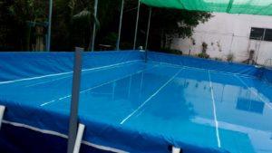 lòng bể bơi khung kim loại