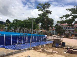 bể bơi lắp tại trường học