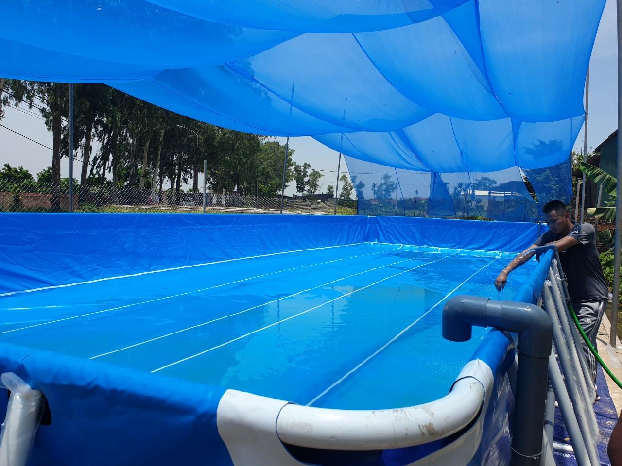 hồ bơi thông minh bằng bạt