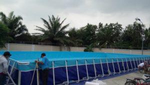 lắp đặt bể bơi trường học lắp ghép