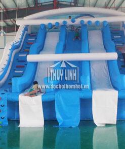 nhà phao trượt nước cho bể bơi