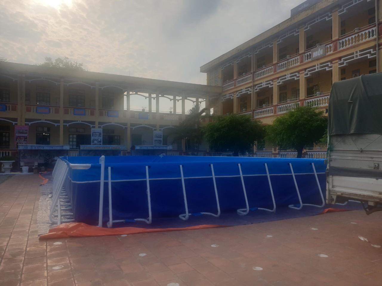 hồ bơi sân trường chất lượng