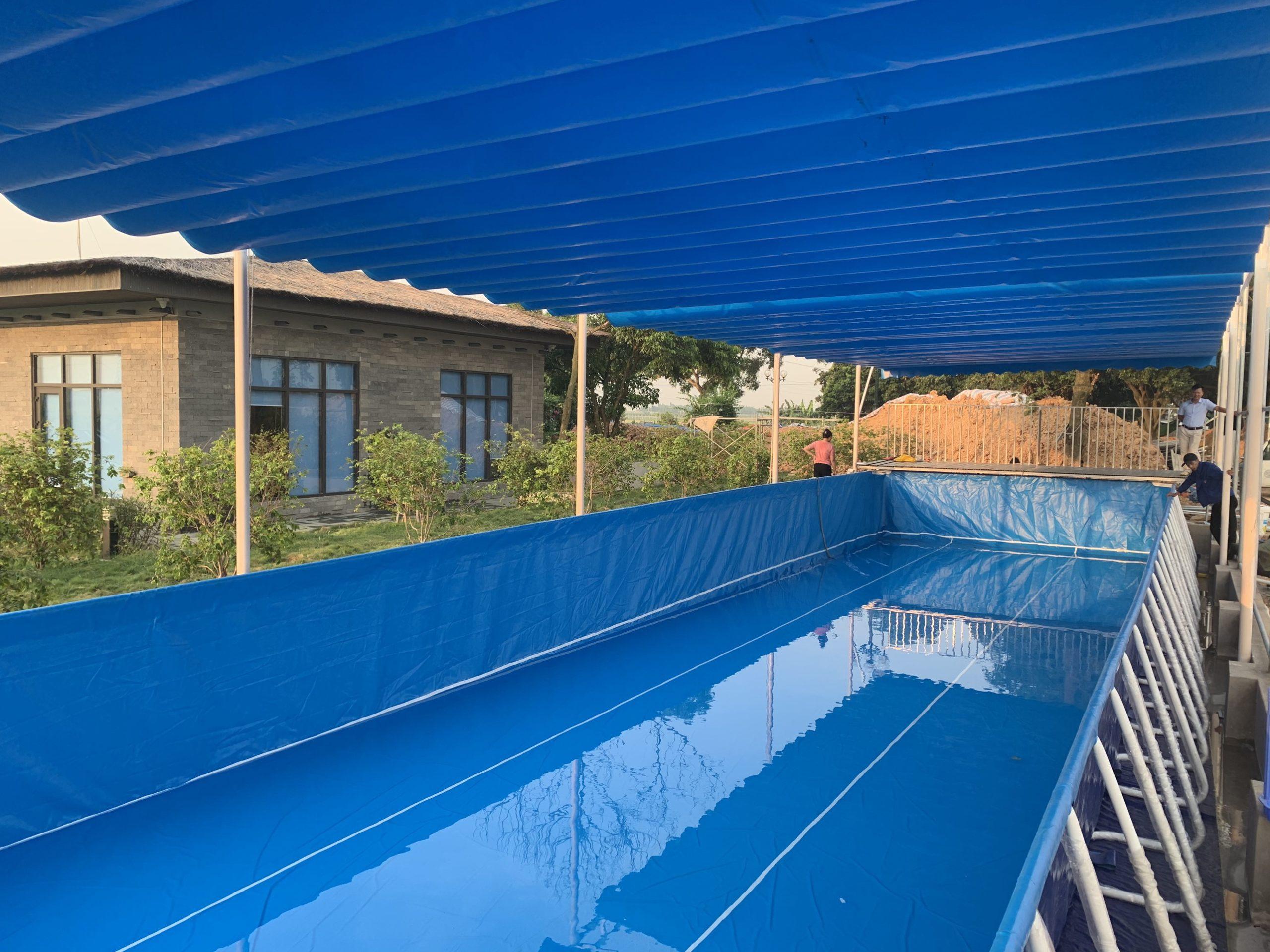 hồ bơi khung kim loại giá rẻ