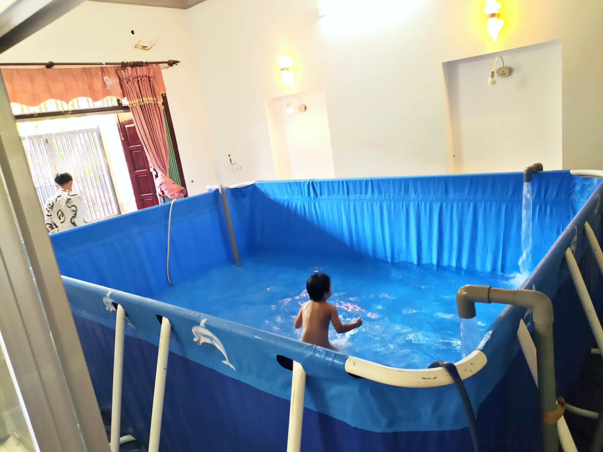 bể bơi lắp ghép cho gia đình