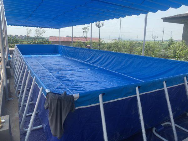 Hồ Bơi Khung Kim Loại Giá Rẻ 5,1m x 18,6m 4
