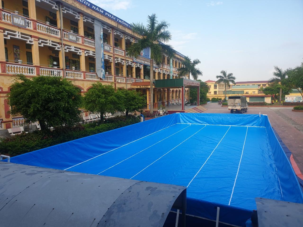 hồ bơi sân trường giá rẻ