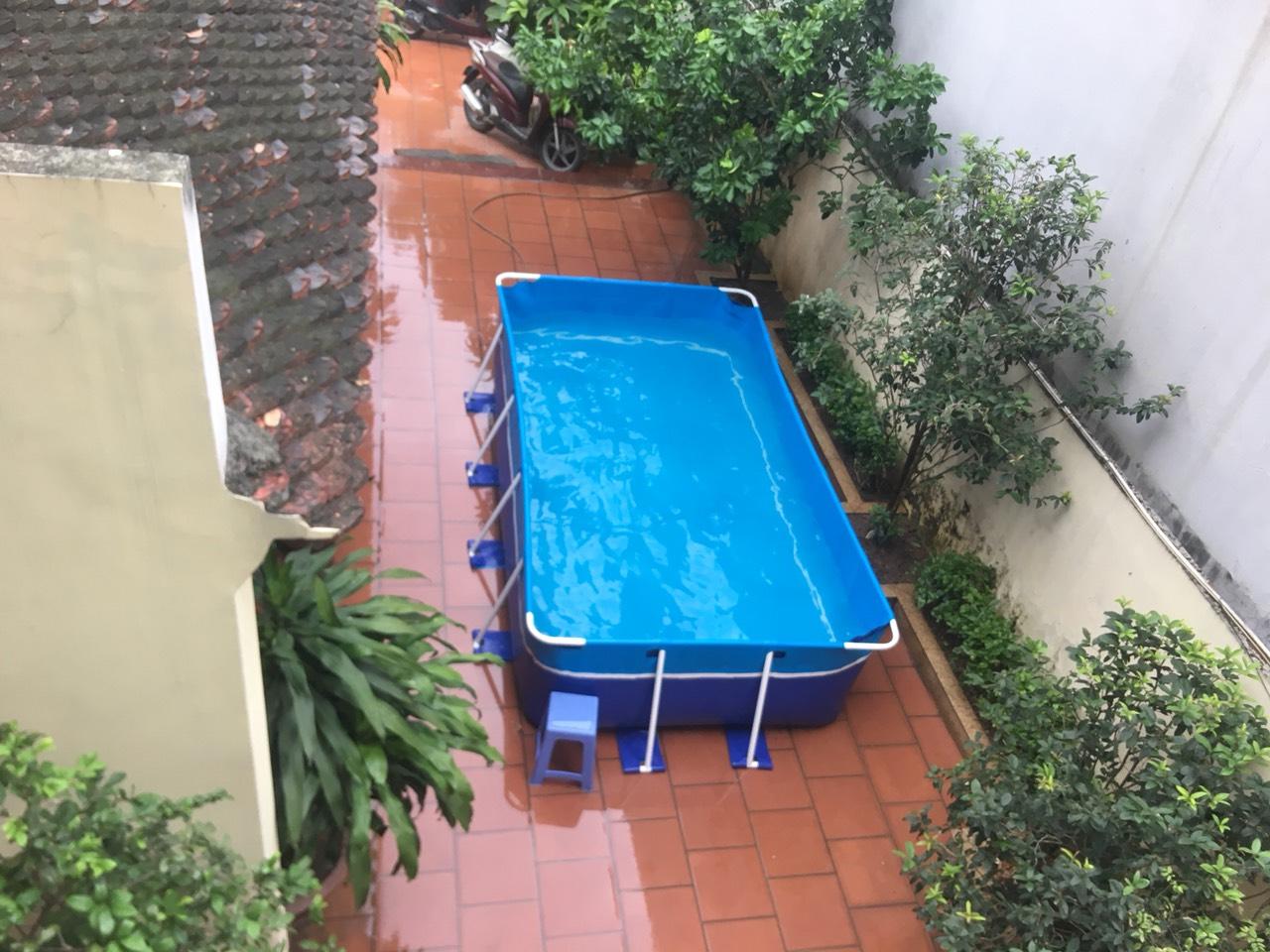 bể bơi gia đình lắp ghép từ trên cao