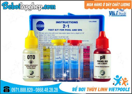 bộ kit test PH và Clo